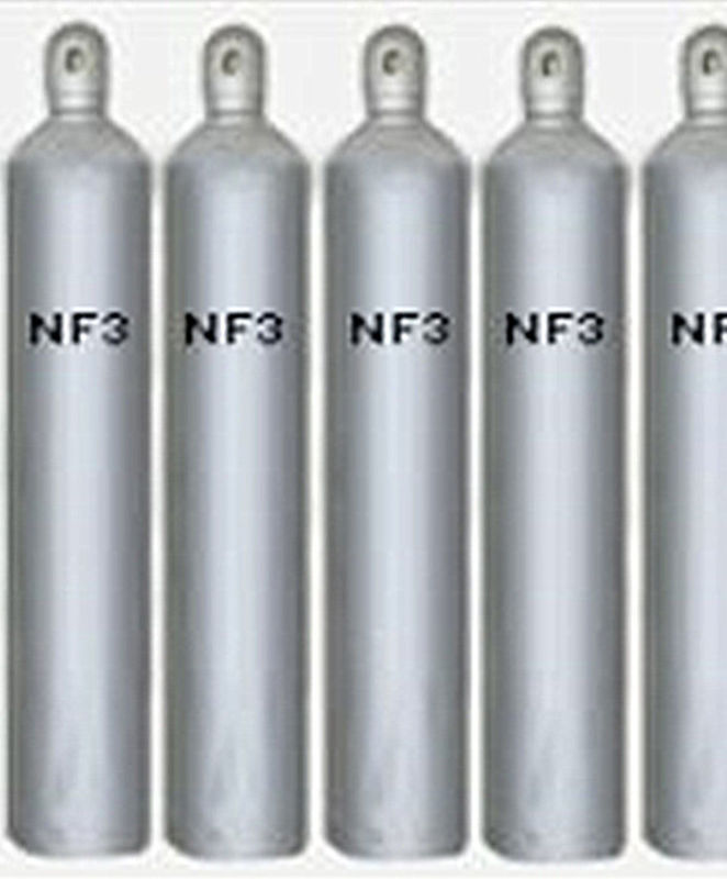 Semiconductor Gas Nitrogen Trifluoride NF3 Gas Inorganic Compound 99.99% Purity